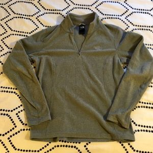 Gray North Face Quarter Zip